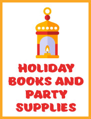 <b>Holiday Books and Party Supplies<b/>