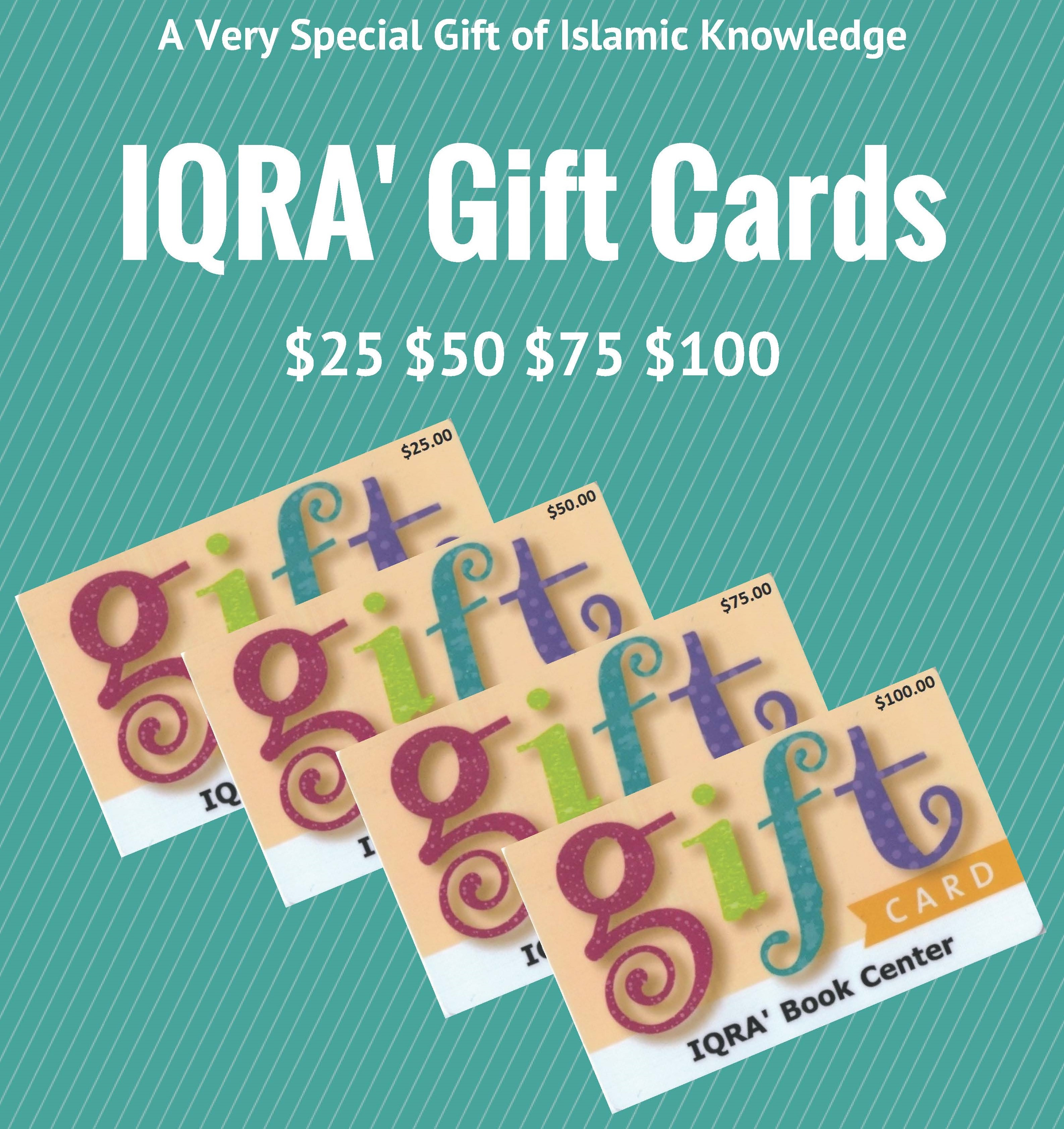 IQRA Gift Card  $75.00