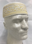 Cap Mens Muslim Prayer Kufi Cotton with Embroidery