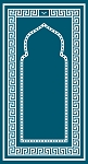 Prayer Mat Sajda Foldable (Teal)