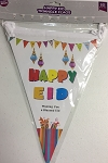 Happy Eid Triangle Flags(10 Fla