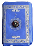 Prayer mat Travelling in zipper Pouch with Compass