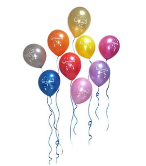 Eid Mubarak Latex Balloons (Assorted Colors, Pack of 20)